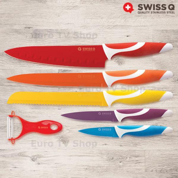 Комплект ножове Swiss Q с керамично покритие