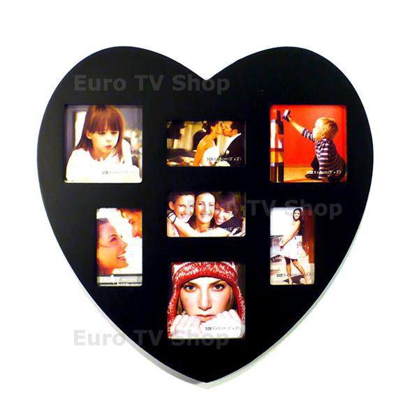 Рамка за 7 снимки - Сърце