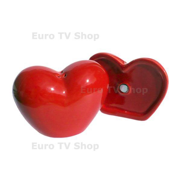 Комплект за сол и пипер Сърце за влюбени